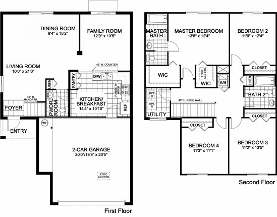 One Story Home Plans Single House Floor