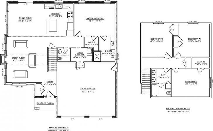 Open Concept Kitchen Living Room Floor Plan Two Storey