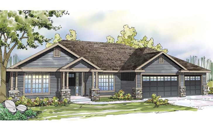 Ranch House Plans Car Garage Numberedtype