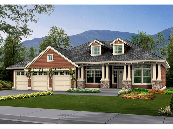 Ranch House Plans Craftsman Style Cottage