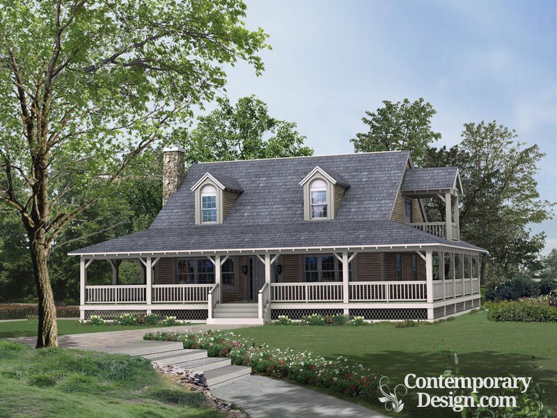 Ranch Style House Wrap Around Porch
