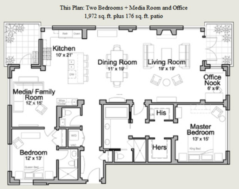 Residential Floor Plans Design Bookmark