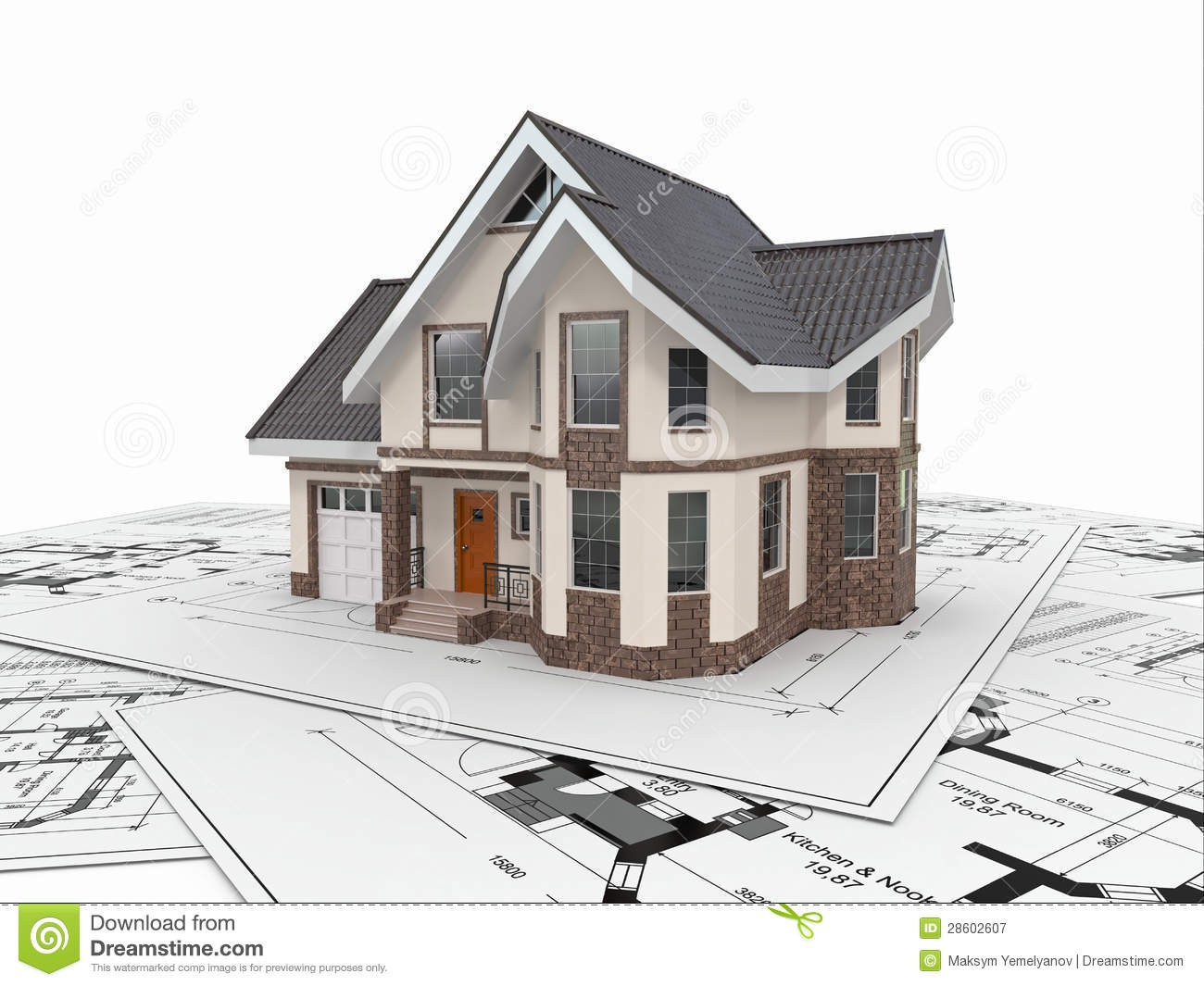 Residential House Architect Blueprints Housing Project