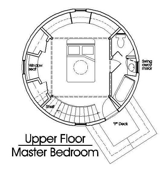 Roundhouse Plan Earthbag House Plans Grain Silo Home Floor
