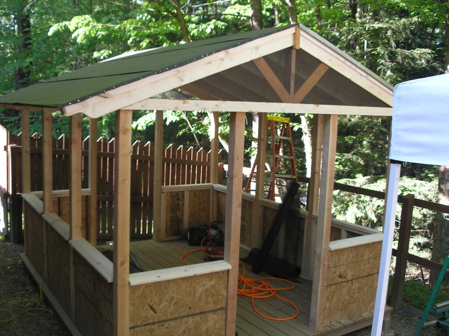 Screen House Plans Diy Mission Bench