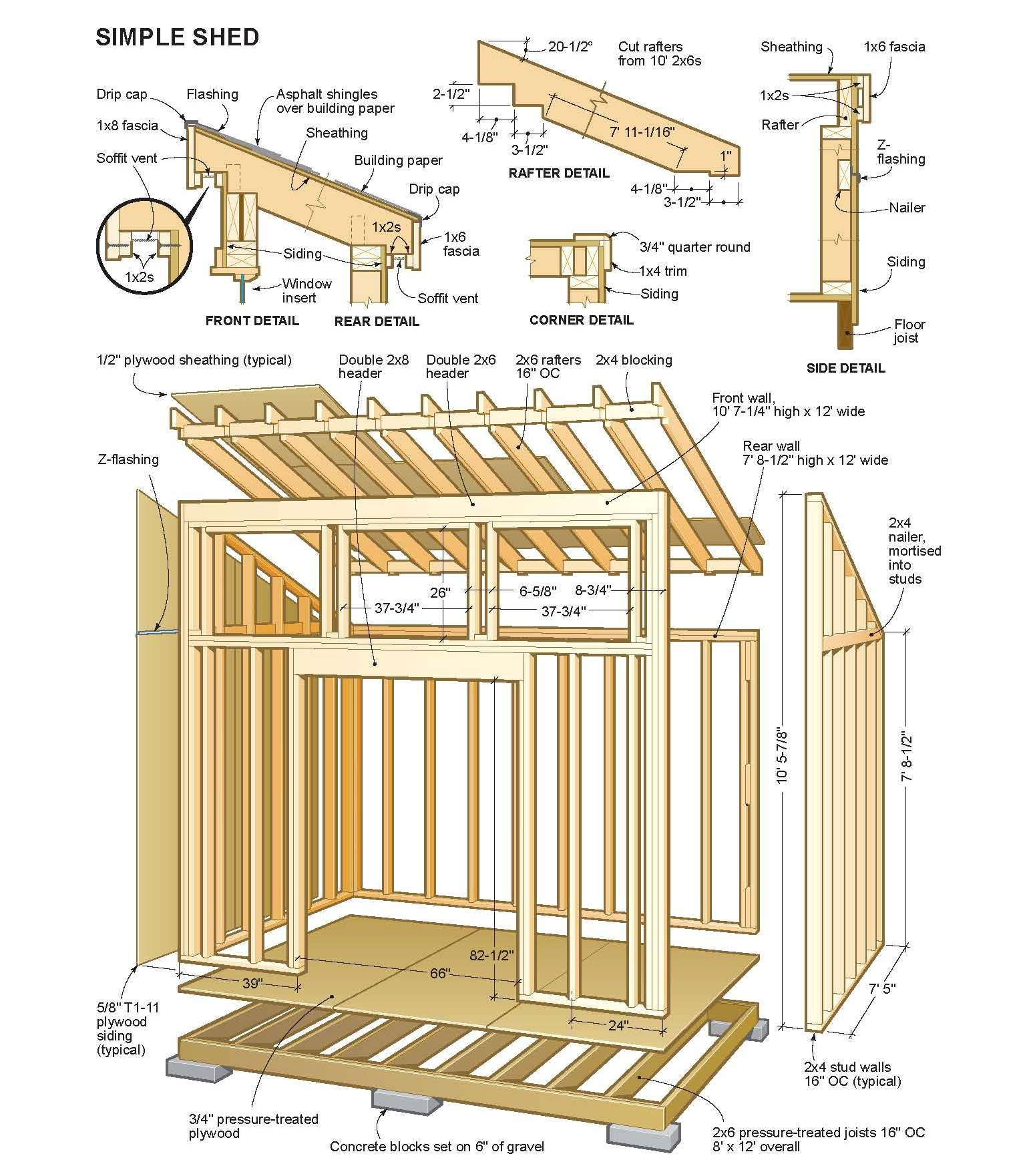 Shed Plans Vipshed Roof Storage Your