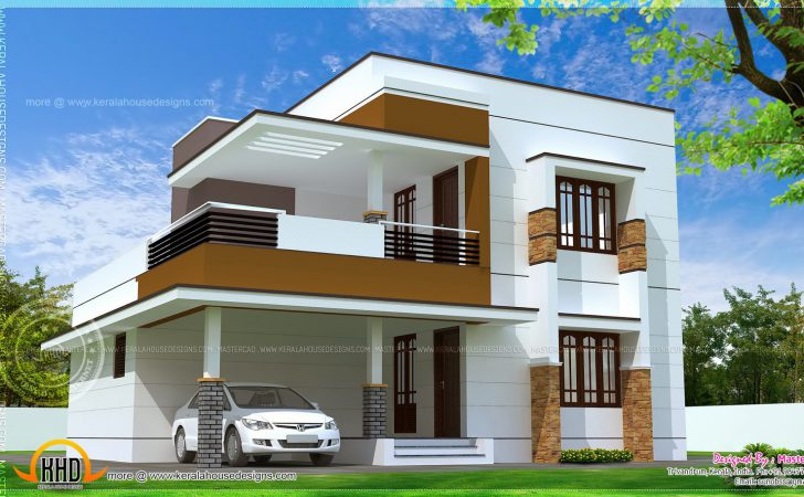 Simple Modern Home Design Square Feet Indian