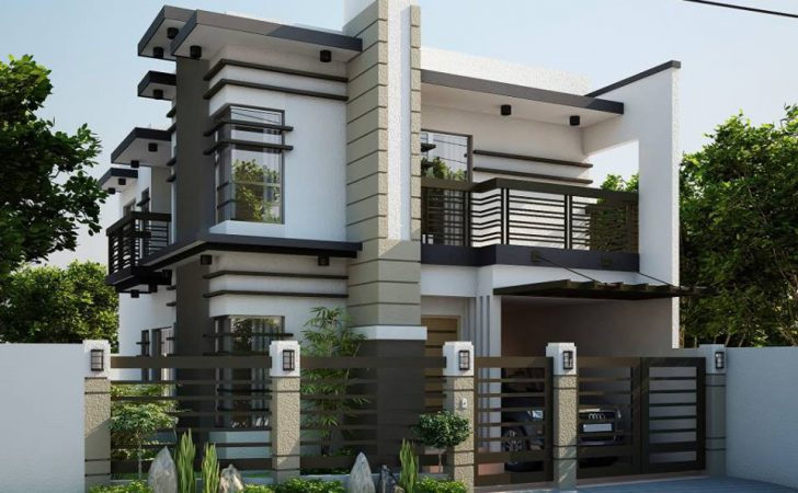 Simple Modern Two Storey House Plans Design