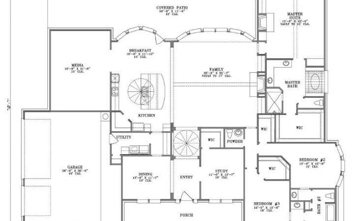 Simple One Story House Plans Porches