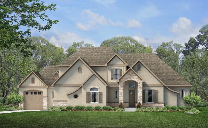 Simply Modern French Country Bonus Rendering House