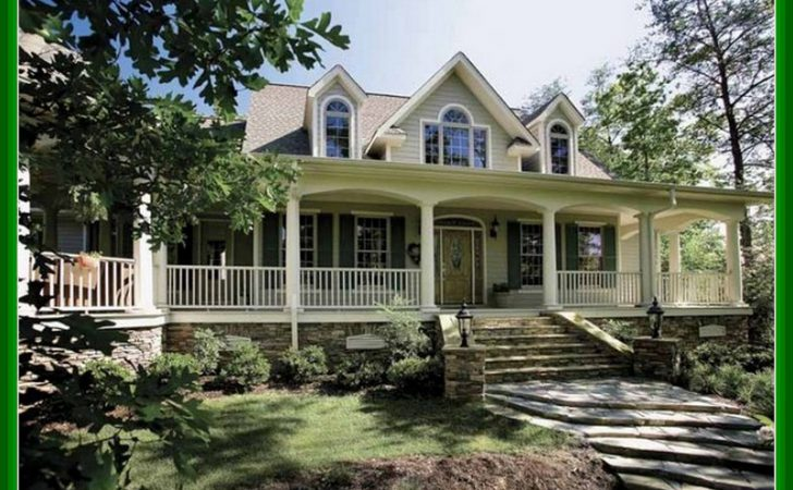 Single Story Ranch House Plans Wrap Around Porch