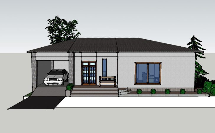 Small House Front Imagining