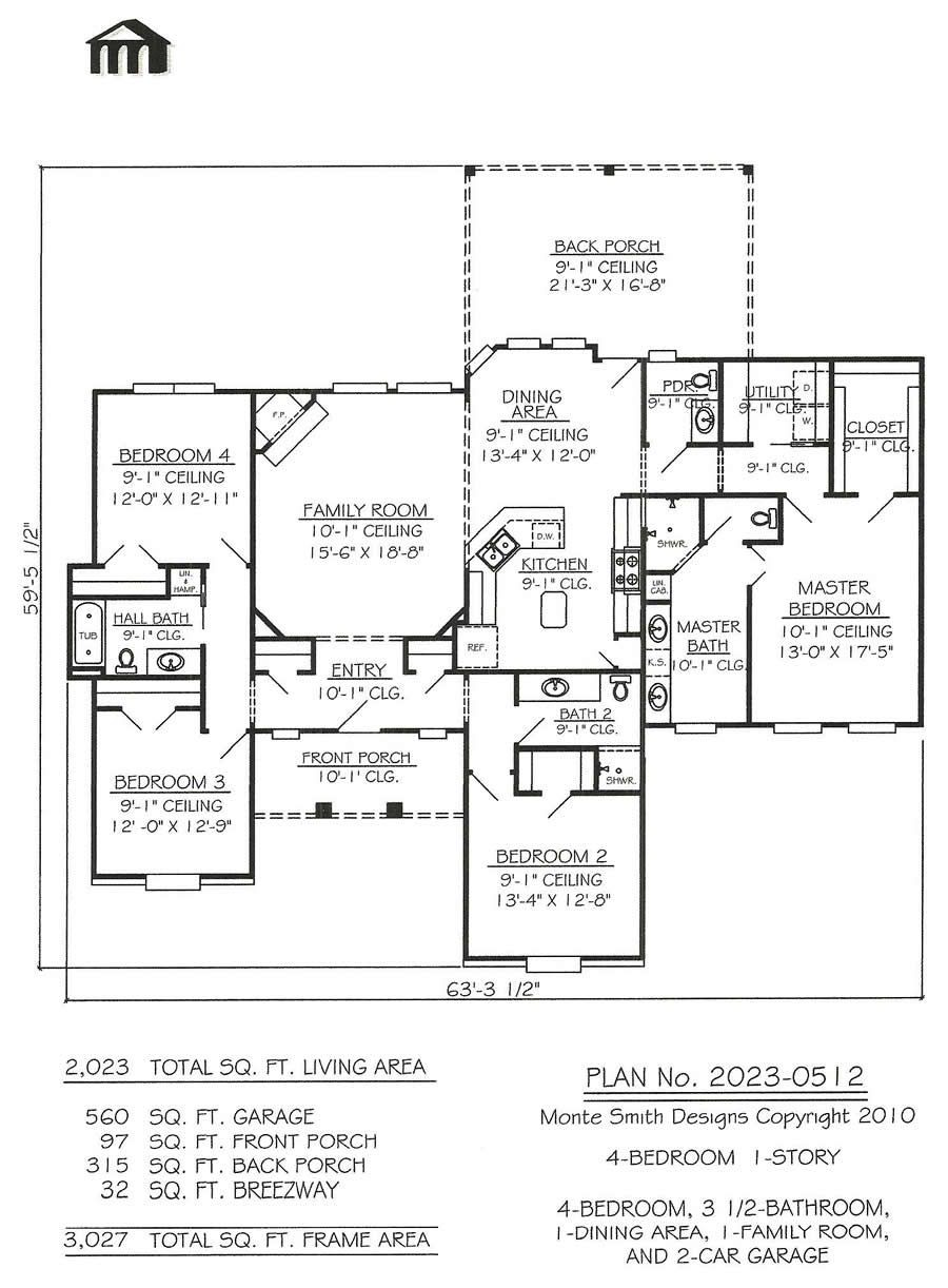 Small House Plans Without Garage