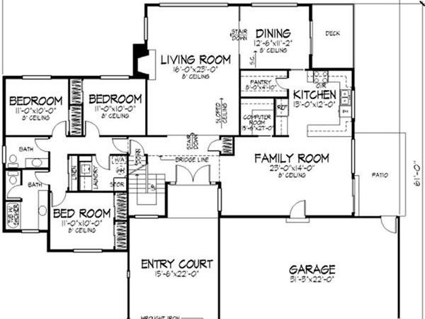 Small Modern House Plans One Floor Cottage