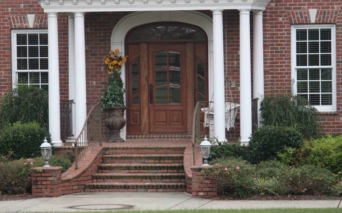 Stairs Front House Design Including Brick