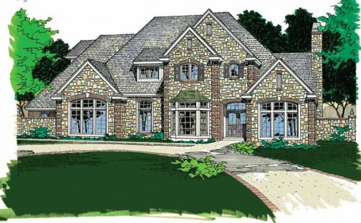 Stone Exterior Radiates Rustic Appeal Hwbdo French
