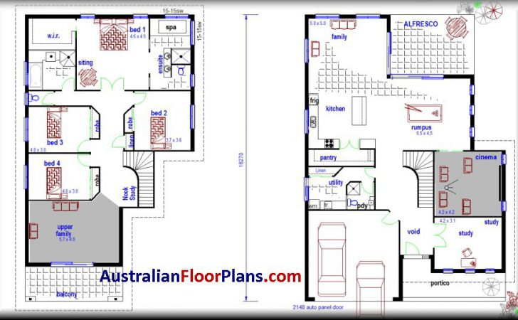Storey House Plans Modern Two Story