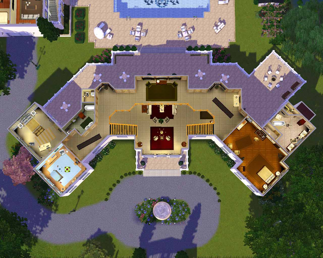 Stunning Sims Mansion House Plans