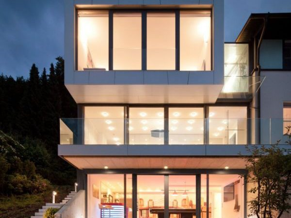 Three Storey Extension Lakeside House Featuring