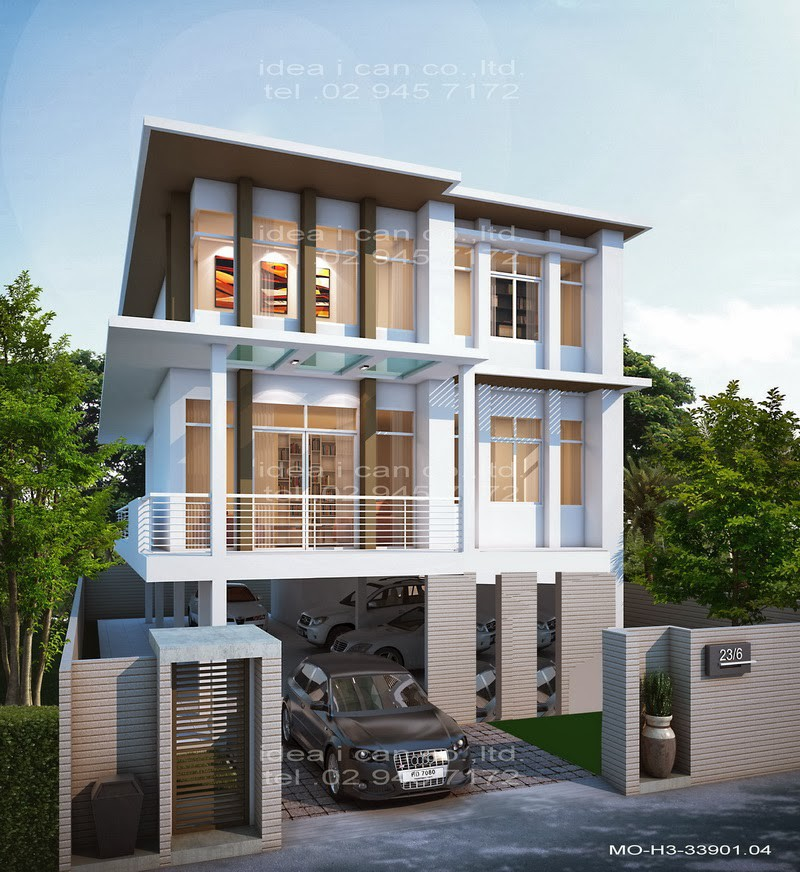 Three Story Home Plans Bedrooms Bathrooms Modern