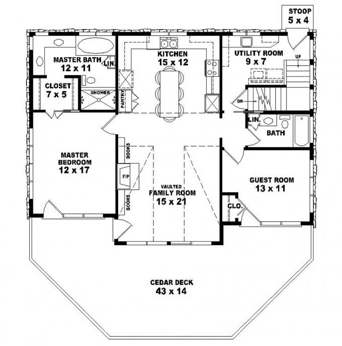 Two Story Bedroom Bath Country Style House