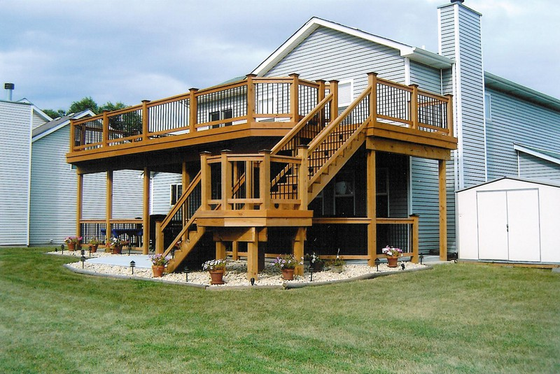 Two Story Deck Designs