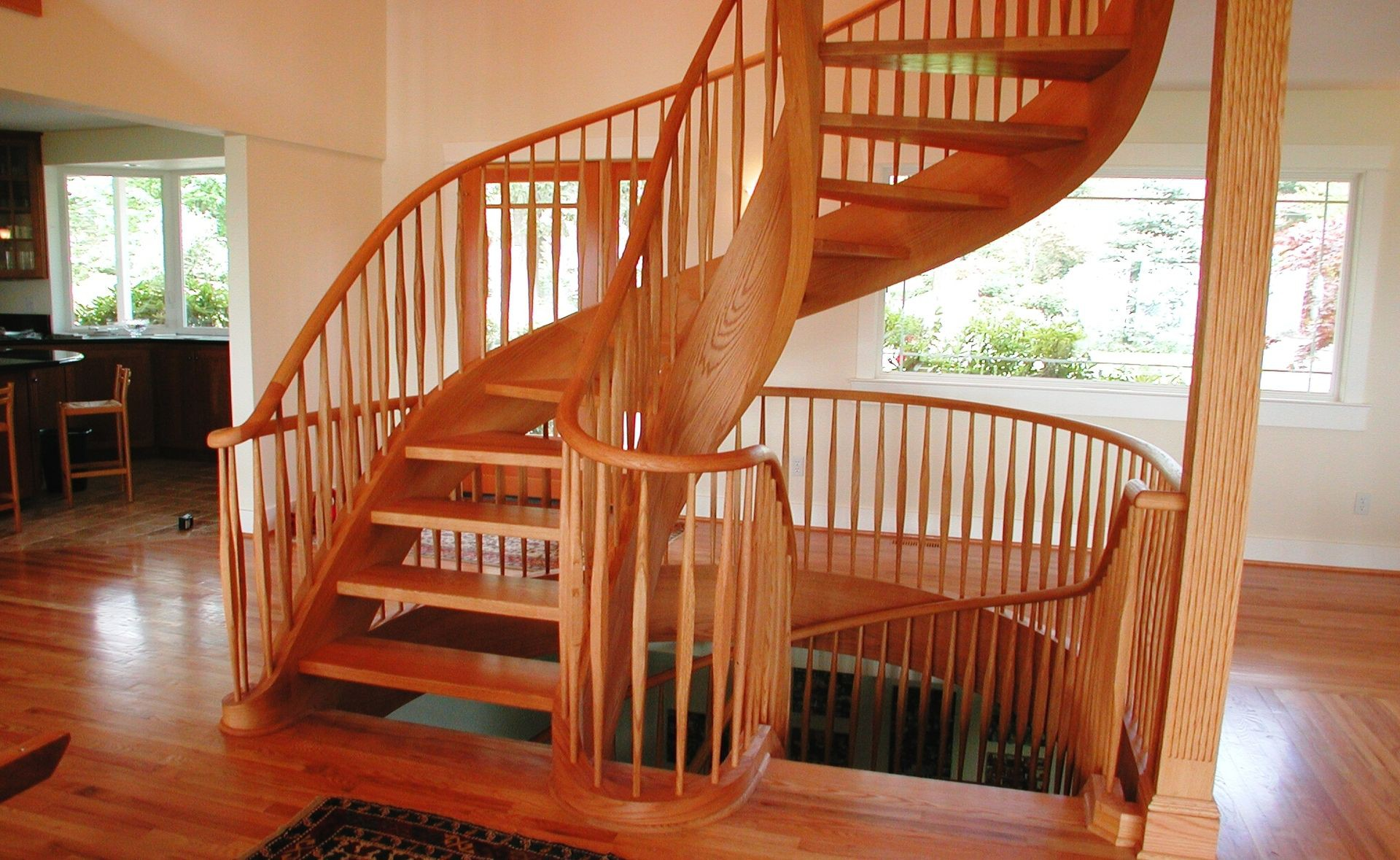 Two Story Spiral Staircase