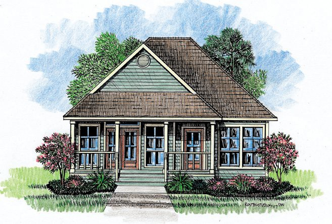 Vista Cottage Home Plans Acadian House